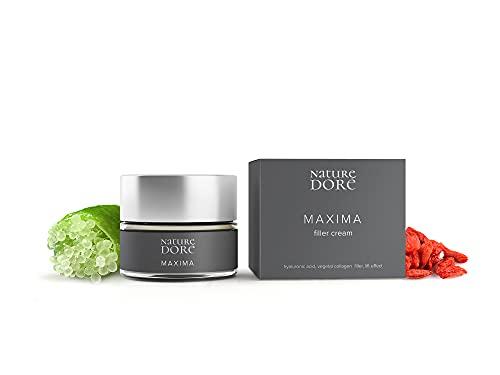 Crema Hidratante Facial Mujer Acido Hialurónico Puro- Filtros Solares -Colágeno Vegano- Caviar Lime(Fuente natural de Vitamina C) Bayas de Goji - Efecto Tensor -Antiarrugas Testada dermatólogicamente