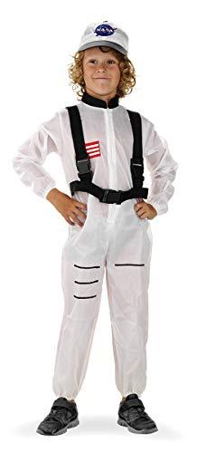 Folat 21882 Astronaut Weltraum-Anzug für Kinder, 116-134 cm, weiß