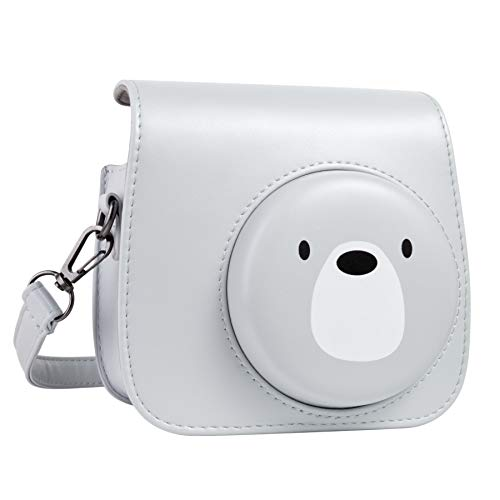 Best Review Of QUEEN3C Cute Bear Mini 9 Camera Case Bag with Adjustable Strap for Fujifilm Instax Mi...