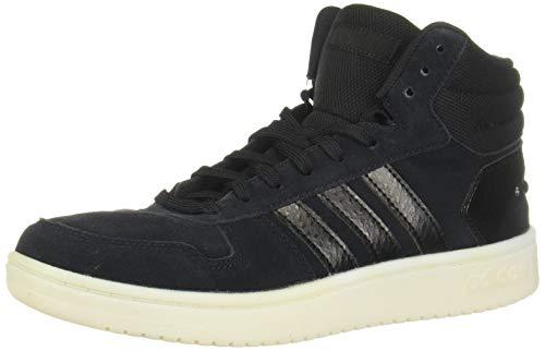 adidas EE7893 Zapatillas Informales para Mujer, con Aros de Moda 2.0, Negro (Negro/Negro/Blanco), 35.5 EU