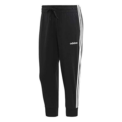adidas Essentials 3-stripes Single Jersey 3/4 Length Pant, Black/White, Medium