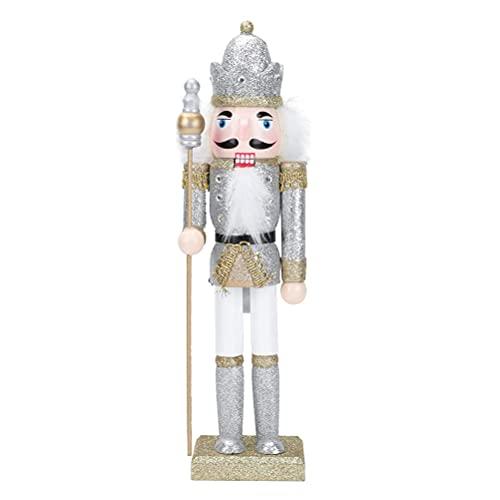 Adornos de Cascanueces de Navidad, Adorno de Soldado Cascanueces Cascanueces de Madera Marionetas de Soldado de Nogal para la decoración de la Fiesta de Navidad