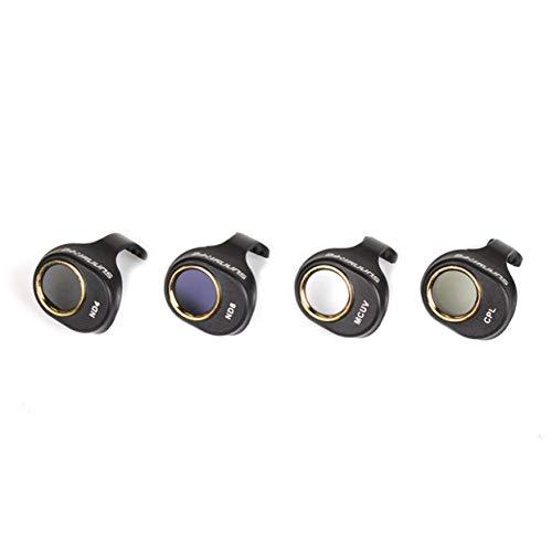 LoveOlvido 4-delige MCUV/CPL / ND4 / ND8 camerafilter circulaire polarisatielens met neutrale dichtheid voor de DJI Spark Drone Cam