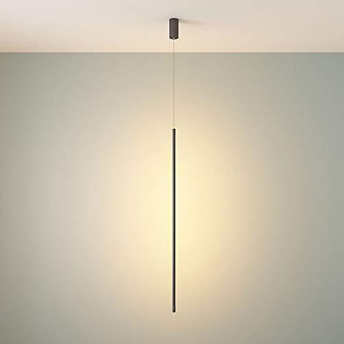 LED 12W Luz minimalista Negro colgante, Tubo moderna lámpara colgante de techo Downlight, Metal Pantalla Suspensión del accesorio de iluminación, la lámpara por cilíndrico Kitchen Cafe Oficina
