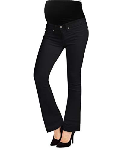 Hybrid & Company Jeans Bootcut di maternità Elasticizzati Super Comodi per Donne Medio Nero