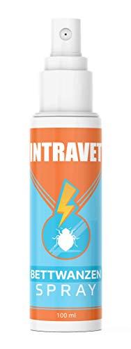 Saint Nutrition Intravet - Anti BETTWANZEN Spray Hochwirksam, Abwehr Mittel bei der Bettwanze & Schädlingsbekämpfung für Matratzen - Insektenschutz für empfindliche Oberflächen & Ungeziefer