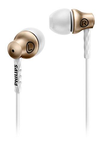 Philips she8100gd/008,6mm Treiber In-Ear-Kopfhörer, semi-Closed Metallgehäuse und Rückseite, Bronze/weiß