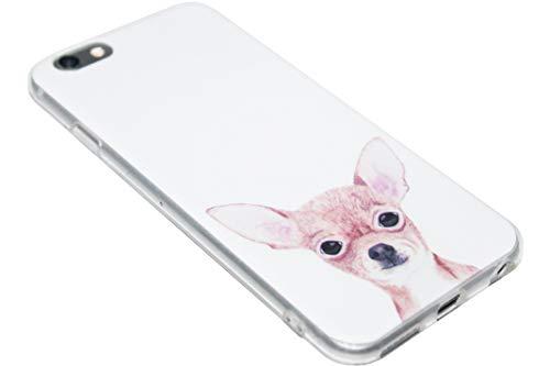 ADEL - Cover morbida in silicone TPU, compatibile con iPhone 6/6S – Chihuahua cane