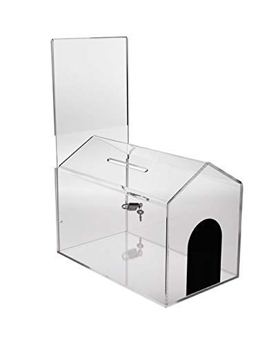 Source One Donation Box with Sign Holder (Small-House) (6 Pack Small House)