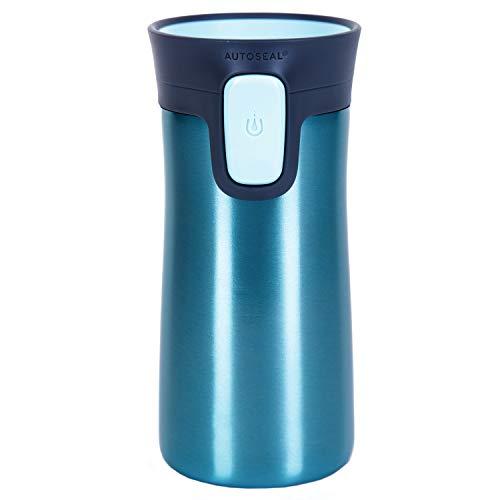 Contigo Unisex Thermobecher Pinnacle Snapseal Edelstahl Isolierbecher, Kaffebecher to go, auslaufsicher, spülmaschinenfester Deckel BPA-frei, 300 ml, Light Blue