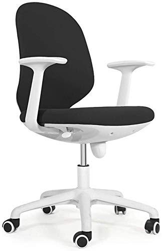 Sillones GSN Silla de la computadora Silla de Oficina Ordenador Curvada del Respaldo y de la Tela cómodo y Transpirable for sillas de Aprendizaje Capacidad de Carga 260 Lbs (Color : Black)