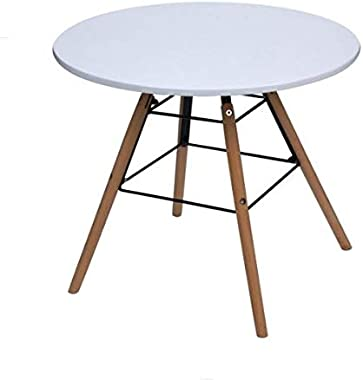 Gift mark Childrens Modern Round Table and Chair Set, White