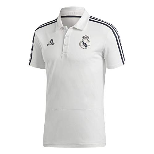 adidas Herren Real Kurzarm Polo-Shirt, Core White/Tech Onix, 2XL