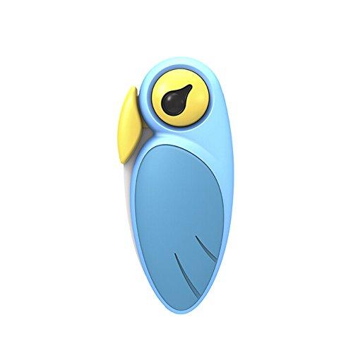ArtiArt - Cuchillo para fruta plegable, cerámica, diseño de pájaro, color azul