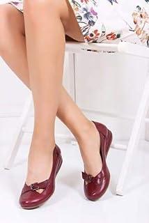 TARÇIN Hakiki Deri Günlük Kadın Babet Ayakkabı TRC50-4008