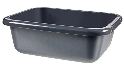 CURVER | Bassine rectangulaire 9L, Anthracite, 38 x 30,4 x 13,1 cm, Plastique