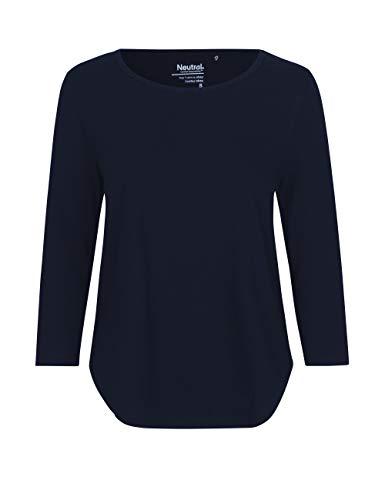 Green Cat- Damen Dreiviertelarm T-Shirt, 100{975155ba7650fd350159e41ebdc73ea45412d87007fa63e507f4449e3c3ef068} Bio-Baumwolle. Fairtrade, Oeko-Tex und Ecolabel Zertifiziert, Textilfarbe: Navy, Gr.: M