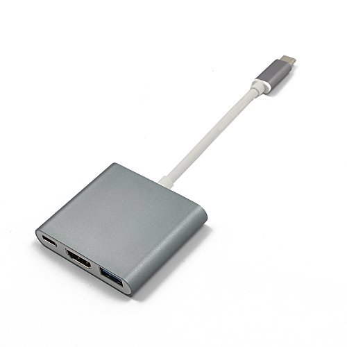 iFormosa USB-C Digital AV Multiportアダプタ HDMI 4K USB 3.0 スペイスグレイ IF-USBCTOMU-SG