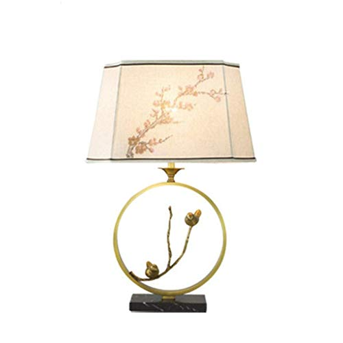 Haushaltsprodukte Tischplatte aus reinem Kupfer Knopfsteuerung Tischlampe Minimalistische Schreibtischlampe am Bett Moderne Akzentlampe Nachttischlampe für Schlafzimmer Wohnzimmer Küche E27 Glühbir