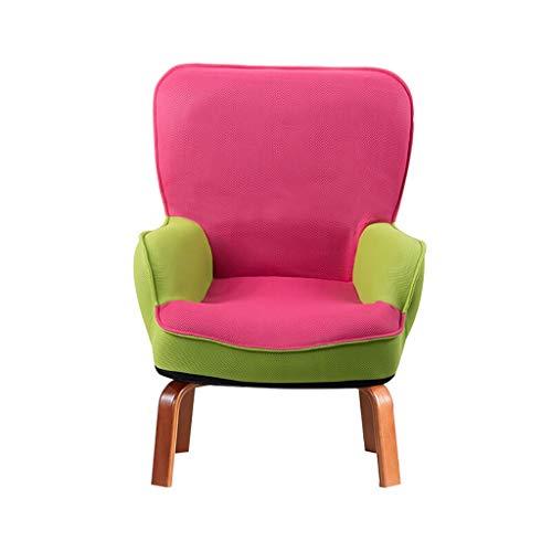 Sessel NUBAO Kindersessel Aus Mesh, Schwamm Sofa, Abnehmbar Abdeckung Kinderzimmer Möbel 5 Farben 54×45×71cm Couch Stühle Armlehnensessel (Color : Pink)