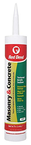 Red Devil 0646 Masonry and Concrete Acrylic Sealant, Gray, 10.1 oz., Pack of 12