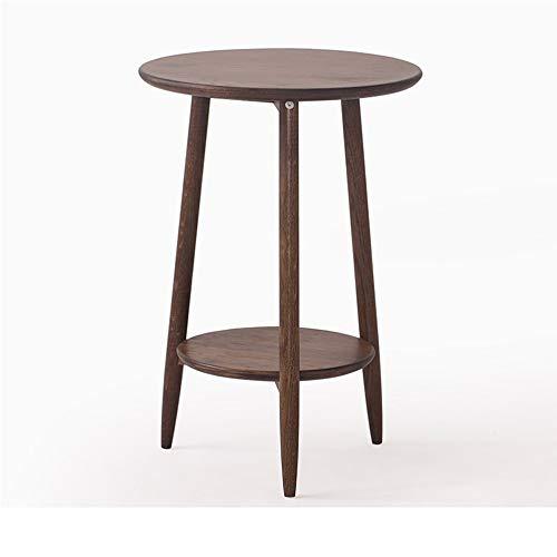 WNN-URG Tablas de Madera pequeña de café, Multi-Capa de Movable Sala Mesa Redonda, Conveniente for la Sala de Estar, Oficina, Restaurante URG (Color : Brown, Size : 50 * 38.5 * 60cm)