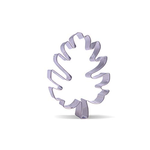 4 inch tropical leaf Cookie Cutter - Stainless Steel