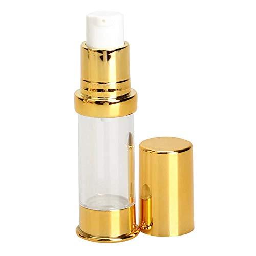 Cosméticos vacíos Botella de pulverización de 10 ml de Botella de Frasco de vacío cosmético Botella de Perfume Gorra de Oro para la loción de la Esencia Prueba de Fugas