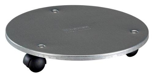 WAGNER Pflanzenroller Stahl- Stahl verzinkt oder beschichtet in diversen Farben, Durchmesser 30 x 5 cm, Tragkraft 60 kg (silberfarben)