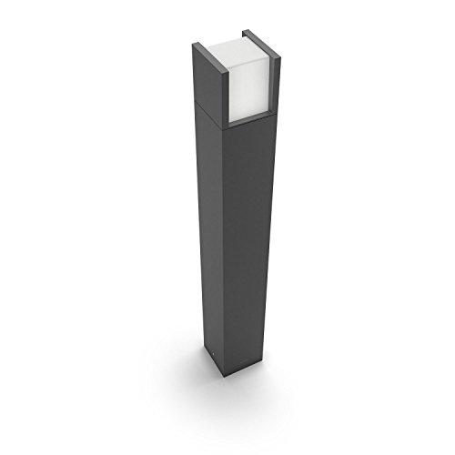 Philips myGarden Arbour - Poste, iluminación exterior, LED, aluminio, luz blanca fría, 10 x 10 x 77 cm, color antracita
