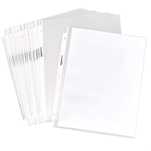 AmazonBasics Sheet Protector - Non-Glare, 100-Pack