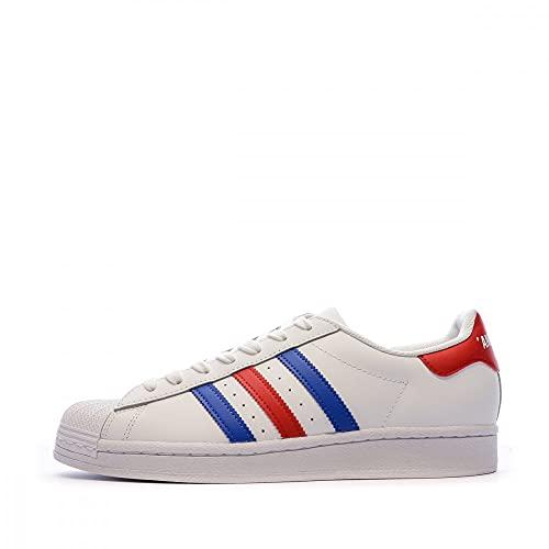 adidas Herren Superstar Sneaker Weiß, 42