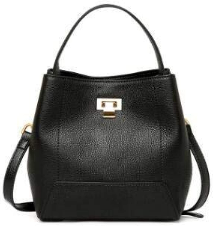 Bloomerang IMIDO Hot Designer Handbags Genuine Leather Bags for Women Tote Bag Crossbody Cowhide Shoulder Bags Red Bolsa Feminina HDG097 color Black