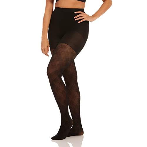 Magic Bodyfashion Damen Incredible Strumpfwaren, Schwarz (Fancy Legs 130), S