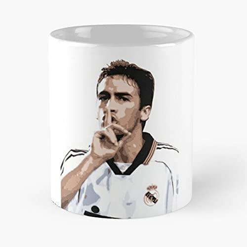 Raúl Meilleure - Taza de café de cerámica blanca (11 oz), color blanco