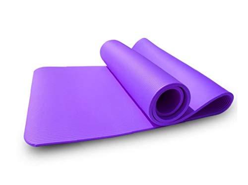 Deanyi Yoga Mat 1PC 8mm Entrenamiento de Pilates de Estiramiento Alfombra Antideslizante respetuosa del Medio Ambiente para el hogar Gimnasio Fitness Yoga Mat 83 * 61 * 0.8cm púrpura