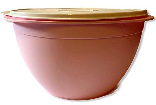 Tupper TUPPERWARE Peng Hefeteig XXL Germteig Schüssel mit Deckel Maximilian 10 Liter rosa lachs pink weiß