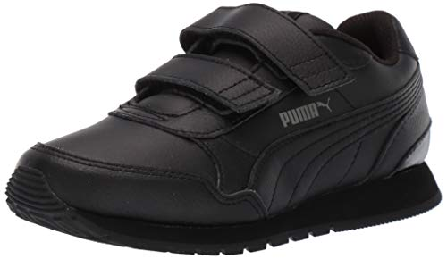PUMA Baby ST Runner V2 Velcro Sneaker, Black-Dark Shadow, 9 M US Toddler