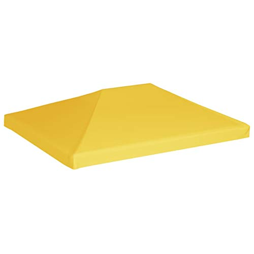 Tidyard Cenador Top Funda Repuestos de Toldos Toldo de cenador 270 g/m² 4x3 m Amarillo (Estructura del cenador no está incluida)