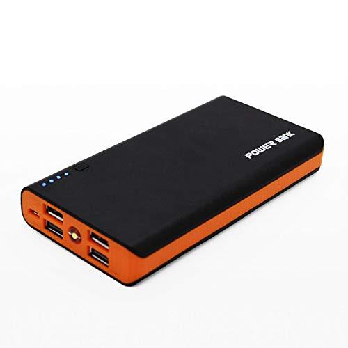Kuyoly Banco de energía Shell con linterna LED 4 puertos USB 5 V 2A Power Bank cargador caso DIY kits sin baterías