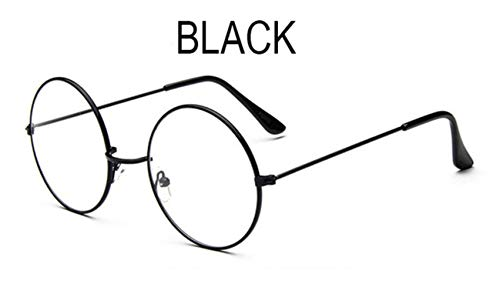 Boner Retro ronde brilmonturen Mannen bril met helder glas Vrouwen bijziendheid Optische transparante bril, zwart