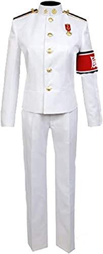 Generic Kiyotaka - Disfraz de Ishimaru de alta escuela para cosplay, disfraz de uniforme cosplay, camiseta y pantaln, color blanco, talla L