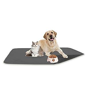fuguitex Waterproof Dog Pad for Sofa Dog Mat Dog Rug Carpet Washable Resuable Crystal Velvet Puppy Pad for Training 1 Piece(30″ 70″,Light Grey+Grey)