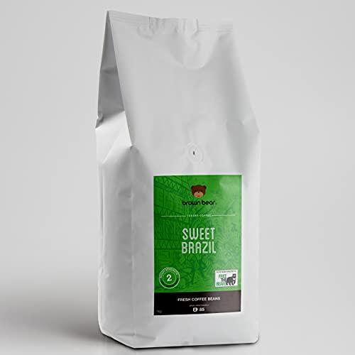 Brown Bear Sweet Brazil Brazilian Coffee, Light Medium Roast, Coffee Beans,...