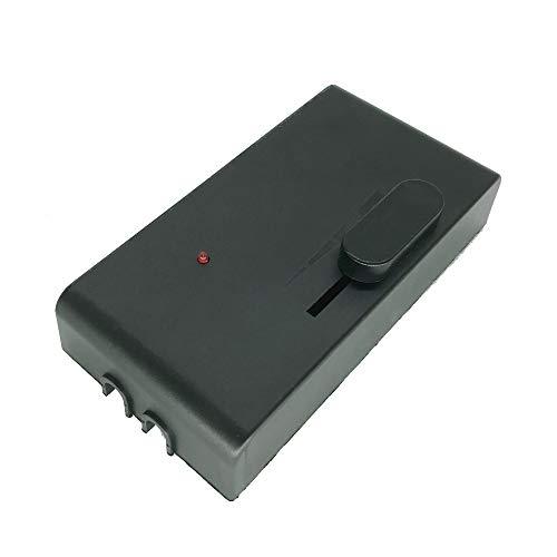 Regulador de intensidad de pie de 300 W, universal, para lámparas incandescentes, halógenas y LED con regulador deslizante y luz de control de 230 V, color negro 1013