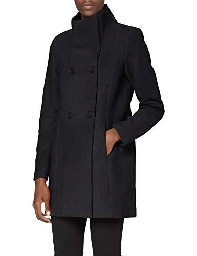 VERO MODA Damen VMCLASSLINE 3/4 Jacket GA BOOS Mantel, Dark Grey Melange, M
