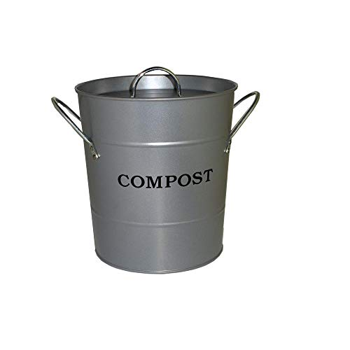 Great Deal! Exaco CPBS04 Small 2-n-1 Kitchen Compost Bucket, Silver