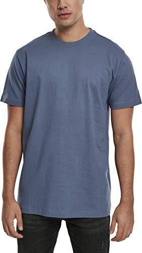 Urban Classics Herren Basic Tee T-Shirt, vintageblue, M
