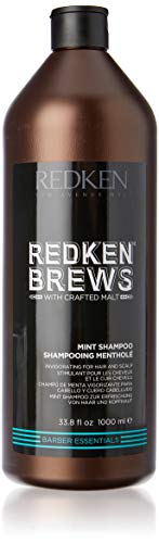 Price comparison product image Redken Brews Mint Shampoo For Men,  Energizing Mint Scent With Menthol For Soothing,  33.8 fl. oz