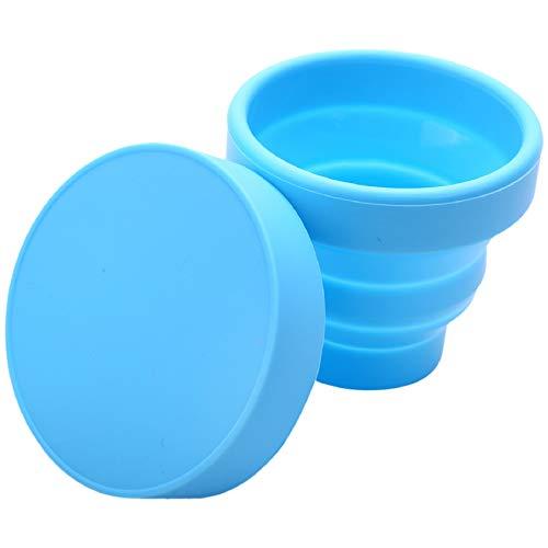 LilyJudy Copa menstrual vaginal y esterilizador taza esterilización tazas plegables flexibles para limpiar reciclable Camping plegable Copa para mujeres (azul)